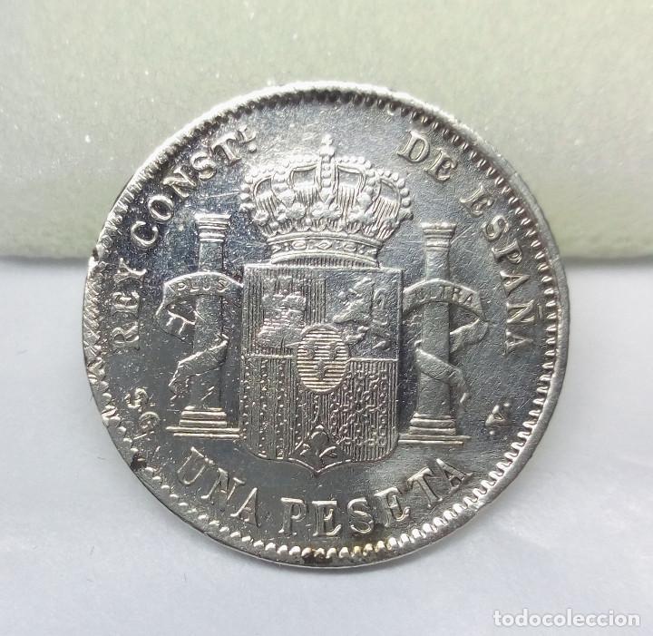 Monedas de España: MONEDA DE PLATA, 1 PESETA DE ALFONSO XIII (1899) - MEDIDA 230 cm - PESO 4.85 gr. - Foto 2 - 156738110