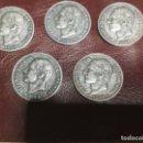 Monedas de España: 5 MONEDAS DE 2 PESETAS ALFONSO II AÑO 1884. Lote 156777206