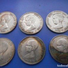 Monedas de España: BONITA COLECCION MONEDA 5 PESETAS AÑOS CORRELATIVOS PATINA ORIGINAL PLATA. Lote 156994202