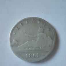 Monedas de España: ESPAÑA 2 PESETAS GOBIERNO PROVISIONAL 1869 SN M. PLATA. Lote 157788648