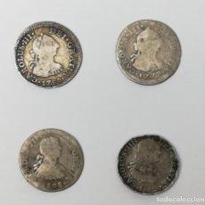 Monedas de España: 4 MONEDAS DE MEDIO REAL. CARLOS III. 1777-1780-1802 Y FERNANDO VII. 1808 ESPAÑA. Lote 158377206