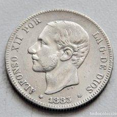 Monedas de España: ESPAÑA - ALFONSO XII - 2 PESETAS 1883 *18-83 MSM – PLATA //MBC R 3144. Lote 158469850