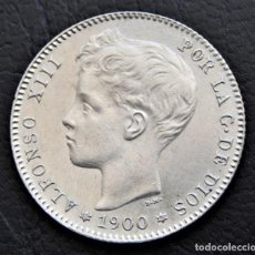 Monedas de España: ESPAÑA - ALFONSO XIII - 1 PESETA 1900 *19-00 SMV - PLATA EBC+ R 3150. Lote 158470070