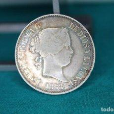 Monedas de España: ISABEL II 1868 MANILA 50 CÉNTIMOS DE PESO. PLATA MBC+ R 3141. Lote 158485278