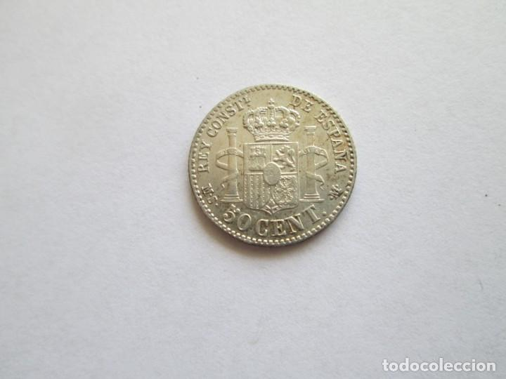 Monedas de España: ALFONSO XII * 50 CENTIMOS 1880*80 MS M * PLATA - Foto 2 - 158493146