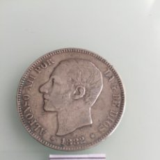 Monedas de España: ALFONSO XII , 5 PESETAS DE PLATA DEL AÑO 1882 *. Lote 159644722