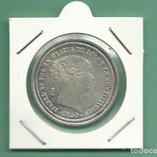 Monedas de España: REPLICA DE LA FNMT. ISABEL II. 20 REALES 1850. Lote 182778572