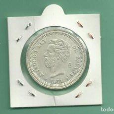 Monedas de España: REPLICA DE LA FNMT. 5 PESETAS 1871 AMADEO I. Lote 158783290