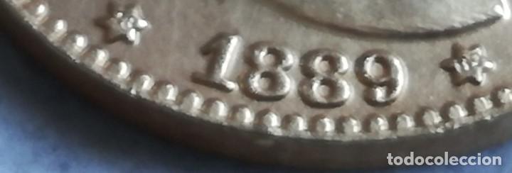 Monedas de España: RÉPLICA Moneda 20 Pesetas. 1889. Estrellas 18 89. Rey Alfonso XIII. Madrid, España. Rara - Foto 2 - 158890294