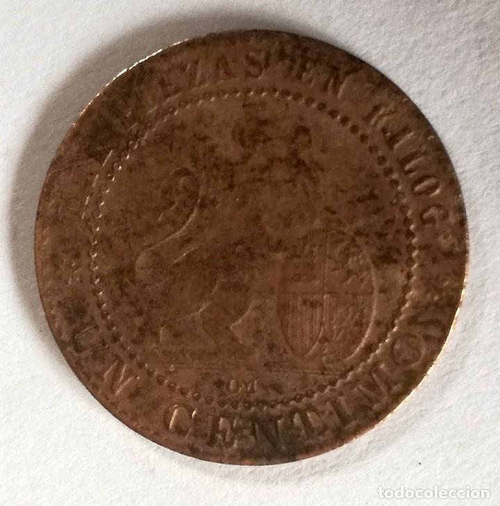 Monedas de España: 1 CENTIMO DEL AÑO 1870 - GOBIERNO PROVISIONAL - Foto 2 - 158964630