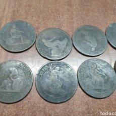 Monedas de España: LOTE 10 MONEDAS COBRE 10 CENTIMOS 1870 GOBIERNO PROVISIONAL REPUBLICA. Lote 159374060