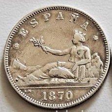 Monedas de España: ESPAÑA - GOBIERNO PROVISIONAL - 2 PESETAS 1870 *18-74 DEM – PLATA R 3139. Lote 159438734