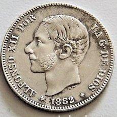 Monedas de España: ESPAÑA - ALFONSO XII - 2 PESETAS 1882 *18-82 MSM - PLATA R 3142. Lote 159438826