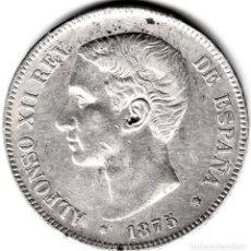 Monedas de España: MONEDA DE 5 PESETAS - DURO DE PLATA- ALFONSO XII -1875 ESTRELLAS XX 75. Lote 159669458