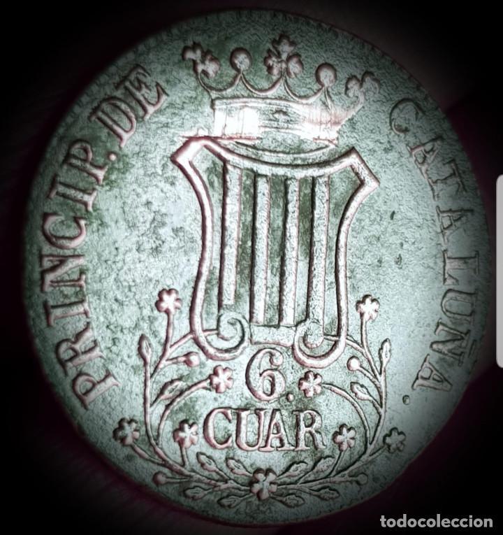 ESPAÑA ISABEL II CATALUÑA 6 CUARTOS 1839 COBRE- MBC 3135 (Numismática - España Modernas y Contemporáneas - De Isabel II (1.834) a Alfonso XIII (1.931))