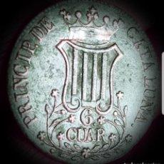 Monedas de España: ESPAÑA ISABEL II CATALUÑA 6 CUARTOS 1839 COBRE- MBC 3135. Lote 159689054