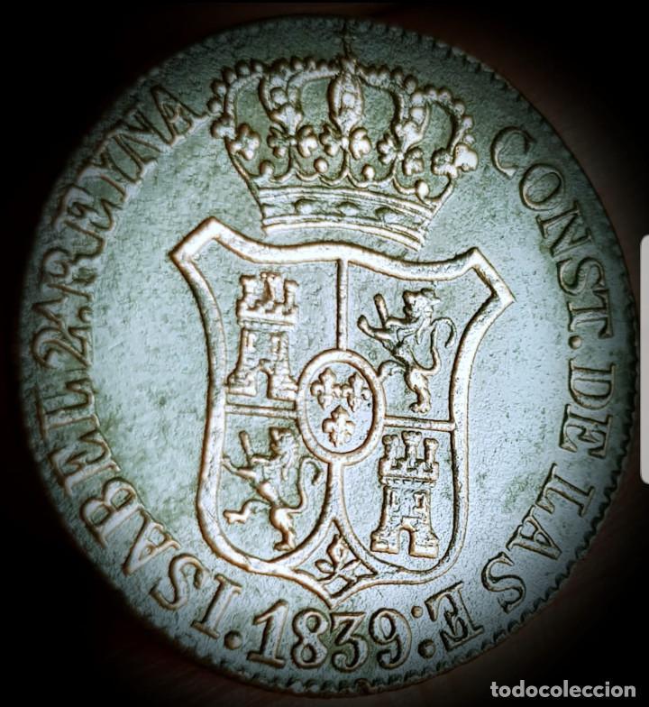 Monedas de España: España Isabel II Cataluña 6 cuartos 1839 cobre- MBC 3135 - Foto 2 - 159689054