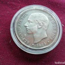 Monedas de España - Muy buen duro de 5 pesetas de plata de 1884. Estrellas visibles 18 84 - 159845790