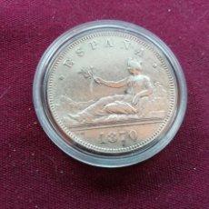 Monedas de España - Buen duro de 5 pesetas de plata de 1870 Estrellas visibles 18 70 - 159855746
