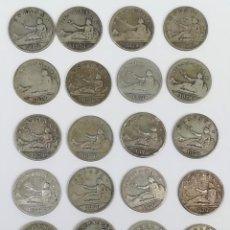 Monedas de España: 21 MONEDAS DE 2 PESETAS DE PLATA. ESPAÑA 1870. Lote 160088942