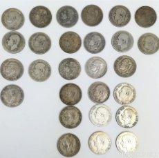 Monedas de España: 27 MONEDAS. 2 PESETAS DE PLATA. ALFONSO XII. REY DE ESPAÑA.1879.1881.1882.1884. Lote 160097258