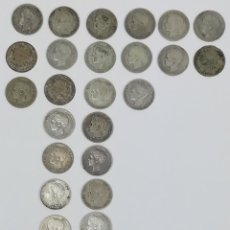Monedas de España: 35 MONEDAS UNA PESETAS DE PLATA ALFONSO XIII REY DE ESPAÑA 1896.1899.1900.1901.1902. Lote 160104338