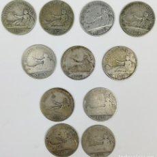 Monedas de España: 11 MONEDAS DE UNA PESETA DE PLATA. ESPAÑA 1870. Lote 160119458