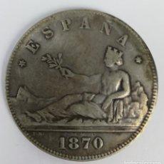 Monedas de España: MONEDA DE 5 PESETAS DE PLATA. ESPAÑA 1870. Lote 160218242