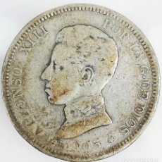 Monedas de España: MONEDAS DOS PESETAS DE PLATA ALFONSO XIII REY DE ESPAÑA 1905. Lote 160228898
