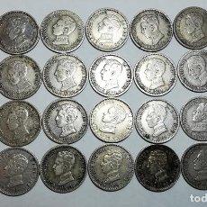 Monedas de España: 28 MONEDAS DE 50 CÉNTIMOS DE PLATA. ALFONSO XIII REY DE ESPAÑA 1904. Lote 160239258