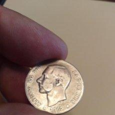 Monedas de España: MONEDA DE UNA 1 PESETA DE 1885 ALFONSO XII MSM ESTRELLAS NO VISIBLES PLATA. Lote 160257610