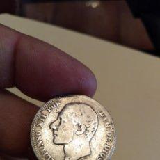 Monedas de España: MONEDA DE DOS 2 PESETAS ALFONSO XII 1882 MSM ESTRELLAS NO VISIBLES PLATA. Lote 160258482