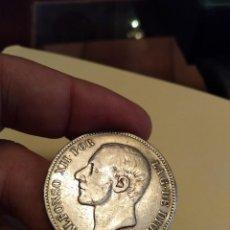 Monedas de España: MONEDA DE 5 CINCO PESETAS 1885 ALFONSO XII (-- --) PLATA MSM ESTRELLAS NO VISIBLES. Lote 160260238