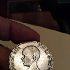 Monedas de España: MONEDA DE 5 CINCO PESETAS 1890 ALFONSO XIII (-- 90) PLATA MPM ESTRELLAS PARCIALMENTE VISIBLES. Lote 160260514