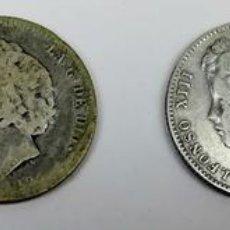 Monedas de España: 4 MONEDAS DE UNA PESETA DE PLATA. ALFONSO XIII REY DE ESPAÑA 1891.1893.1899.1903. Lote 160316814