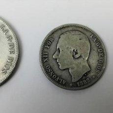 Monedas de España: 3 MONEDAS: 2 PESETAS. UNA PESETA. 50 CÉNTIMOS DE PLATA. REY ALFONSO XII. ESPAÑA. Lote 160333354