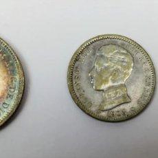 Monedas de España: 3 MONEDAS: 2 PESETAS. UNA PESETA. 50 CÉNTIMOS DE PLATA. REY ALFONSO XIII. ESPAÑA. Lote 160335954