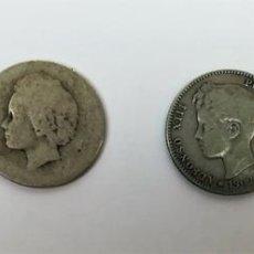 Monedas de España: 4 MONEDAS DE UNA PESETA DE PLATA. ALFONSO XIII REY DE ESPAÑA 1889.1893.1902.1903. Lote 160349122