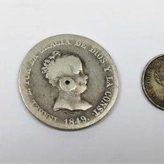 Monedas de España: 4 MONEDAS DE PLATA ISABEL II. DE ESPAÑA. VARIOS AÑOS.. Lote 160353910