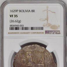 Monedas de España - ¡¡ RARA !! MONEDA 8 REALES DE FELIPE IV. AÑO 16Z9. CECA POTOSI. ENSAYADOR T CERTIFICADA POR NGC - 113499767