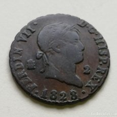 Monedas de España: ## 2 MARAVEDIES 1828 SEGOVIA - FERNANDO VII ##. Lote 160555106