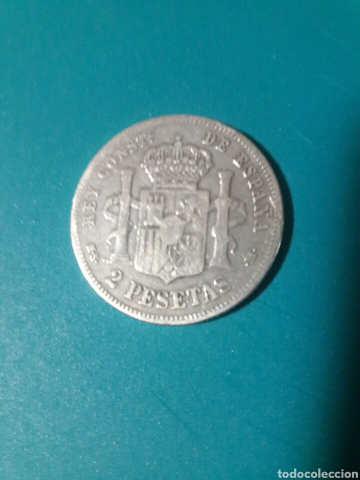 Monedas de España: Moneda plata 2 pesetas 1882. Alfonso XII. - Foto 2 - 160635126