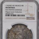 Monedas de España: ¡¡ ESCASA ASI !! 8 REALES FELIPE V. AÑO 1742. CECA DE MEXICO. ENSAYADORES M.F. Lote 138569178