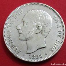 Monedas de España: ALFONSO XII. MONEDA DE 5 PESETAS. 1885, *18 *87. PLATA.. Lote 160828722