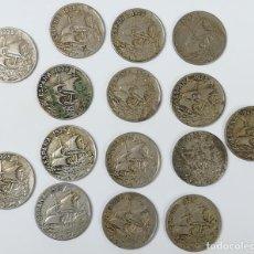 Monedas de España: 15 MONEDAS DE 25 CÉNTIMOS. ESPAÑA 1925. Lote 160968050