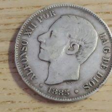 Monedas de España: 5 PESETAS. ALFONSO XII. 1885. PLATA .900. Lote 161483010
