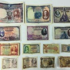 Monedas de España: 14 BILLETES DE ESPAÑA AÑOS 1925-1951. Lote 161635858