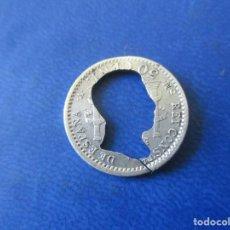 Monedas de España: ALFONSO XIII. 50 CENTIMOS 1904 RECORTADA. Lote 162013414