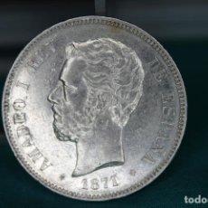 Moedas de Espanha: ESPAÑA AMADEO I 5 PESETAS, 1871 18 Y 71 DENTRO DE LA ESTRELLA MBC+ R 3146. Lote 162931098