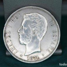Monedas de España: ESPAÑA AMADEO I 5 PESETAS, 1871 18 Y 71 DENTRO DE LA ESTRELLA MBC PLATA R 3147. Lote 162931466